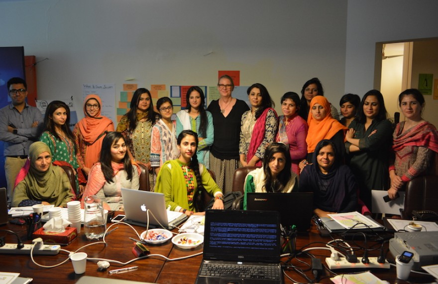 UNESCO's Director Ms. Vibeke Jensen visits the training sessions at MMfD; appreciates the tireless efforts of the team to make women journalists safer online