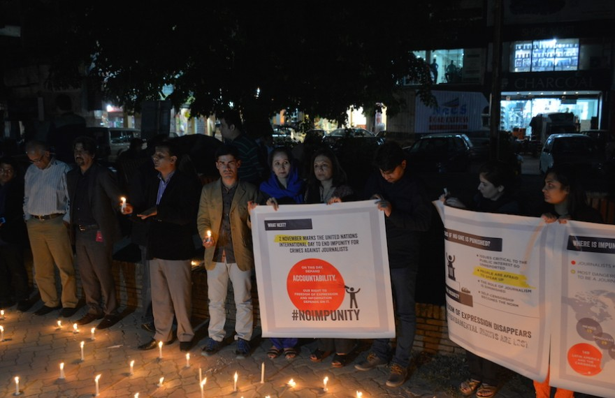 In remembrance: civil society members and journalists mark International Day to End Impunity; demand investigation into the cases of slain journalists
