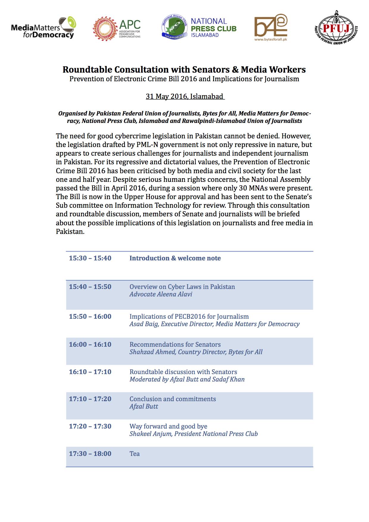 PECB Consultation Agenda
