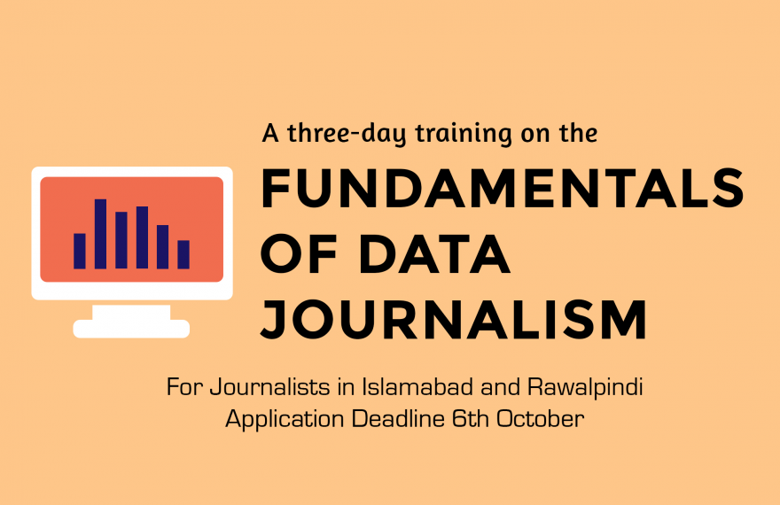 #MediaForTransparency: Media Matters for Democracy launches a three-day, free data journalism course for journalists based in Islamabad and Rawalpindi