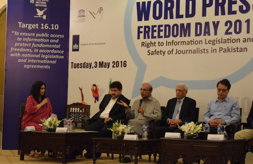 UNESCO, Media Matters for Democracy, Embassy of Netherlands and Center for Peace and Development Initiatives hosted World Press Freedom Day 2016 in Islamabad