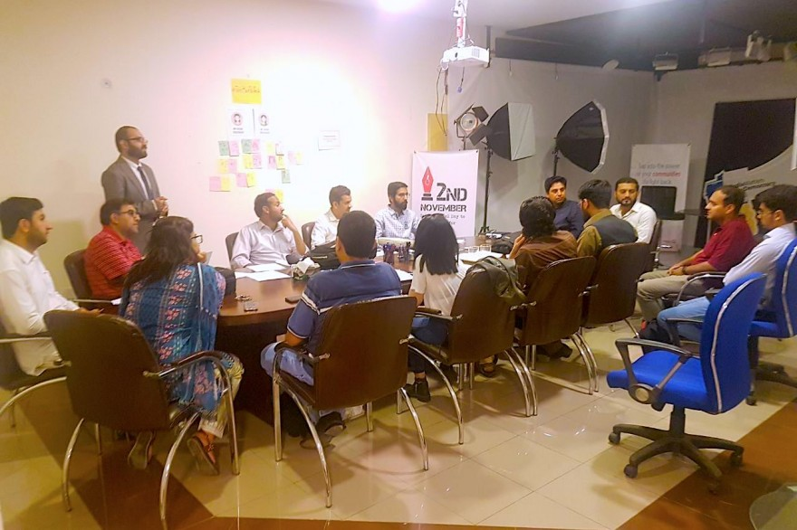 Journalists and coders scrape online data to examine legislative performance at a Scrapthon hosted by Media Matters for Democracy and Code for Pakistan