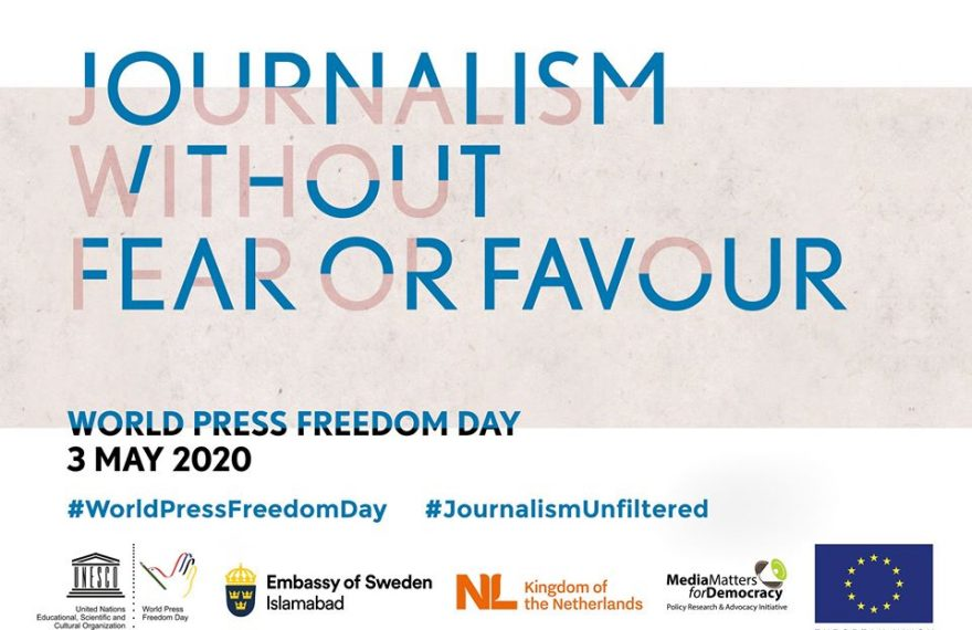 Media Matters for Democracy, along with EU Pakistan, UNESCO, and Swedish Embassy digitally commemorates the World Press Freedom Day 2020