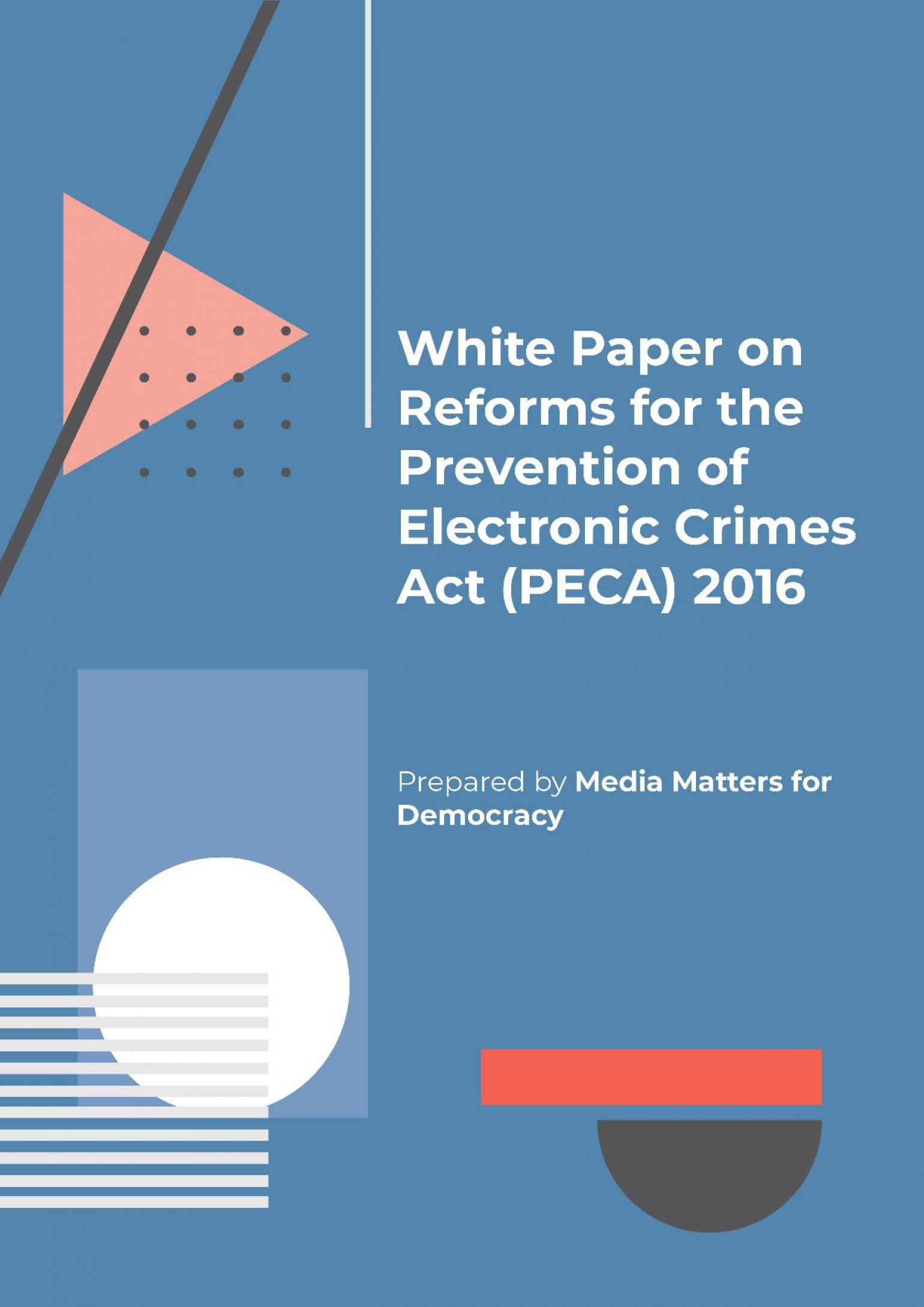 Media Matters for Democracy publishes White Paper on Reforms for PECA 2016