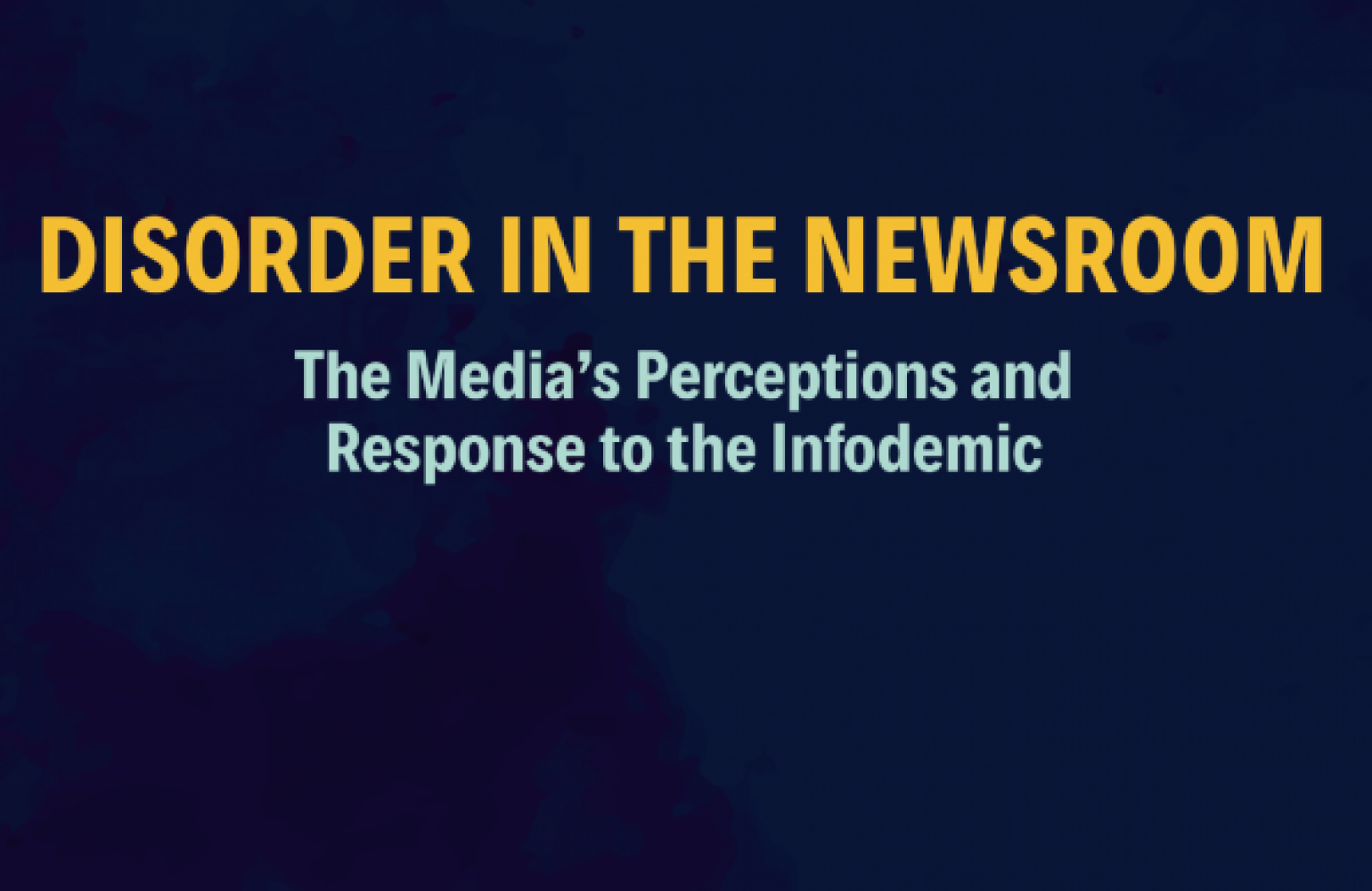 Launching 'Disorder in the Newsroom': A study by Media Matters for Democracy on journalists' perception of their ability to identify and counter misinformation